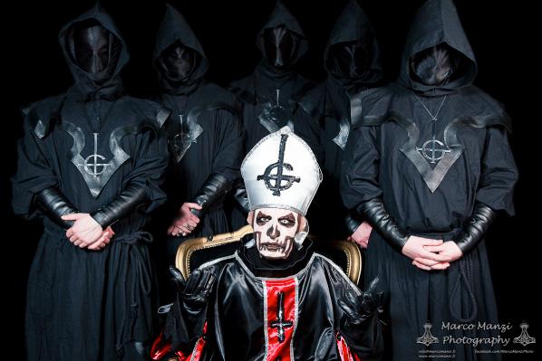 Ghost, photo for Metal Maniac magazine, 2011. Photo by Marco Manzi.